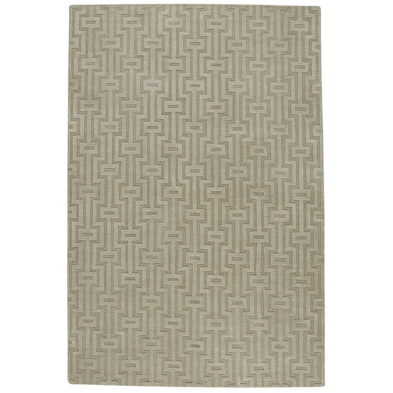 Arcade-Cycle Beige Hand Loomed Area Rug Rectangle image