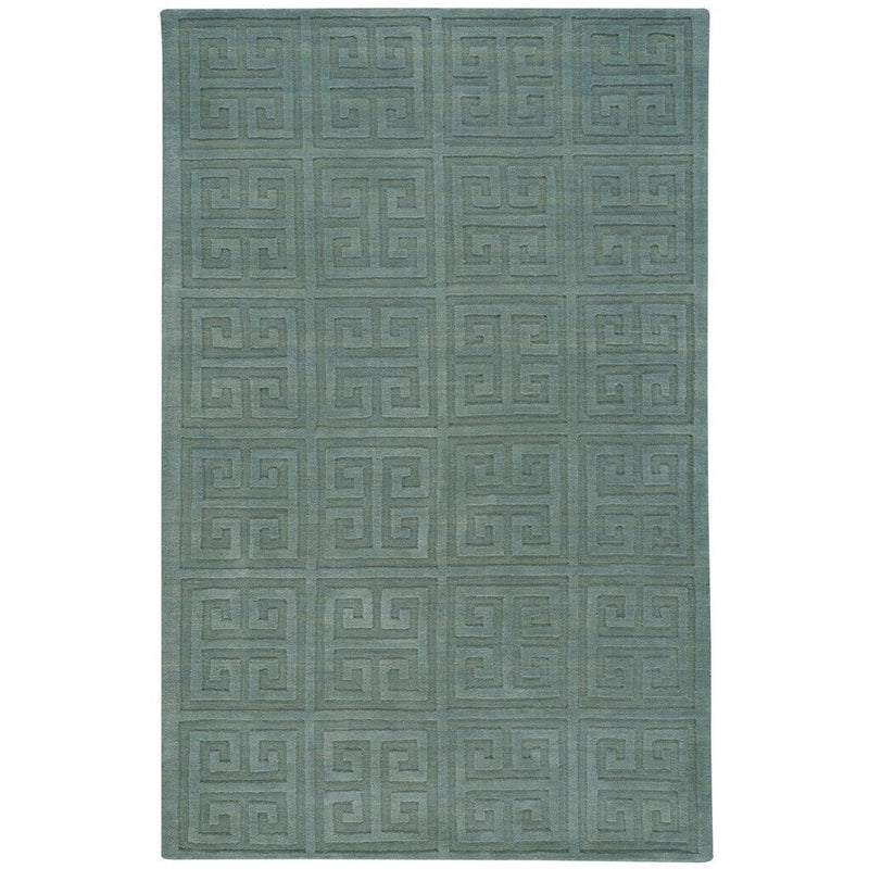 Arcade-Stamp Lt. Green Hand Loomed Area Rug Rectangle image
