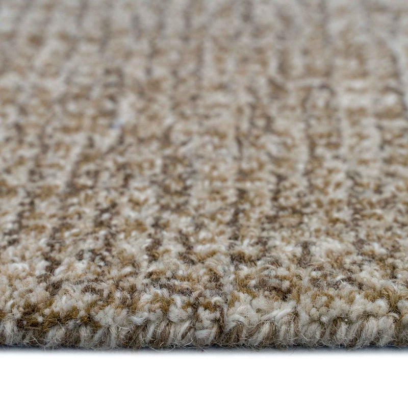 Breccan Toffee Hand Tufted Rug Rectangle Cross Section image