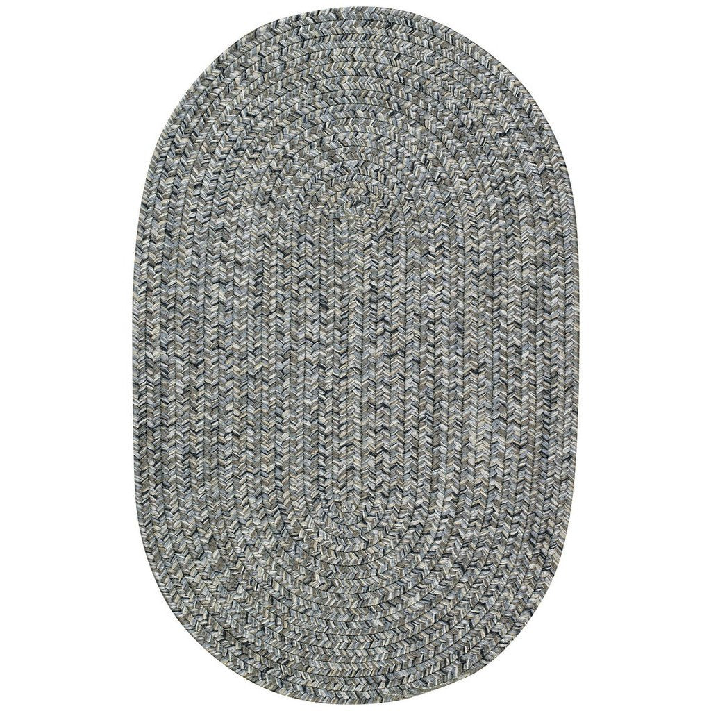 Sea Glass Smoky Quartz Braided Rug Oval image