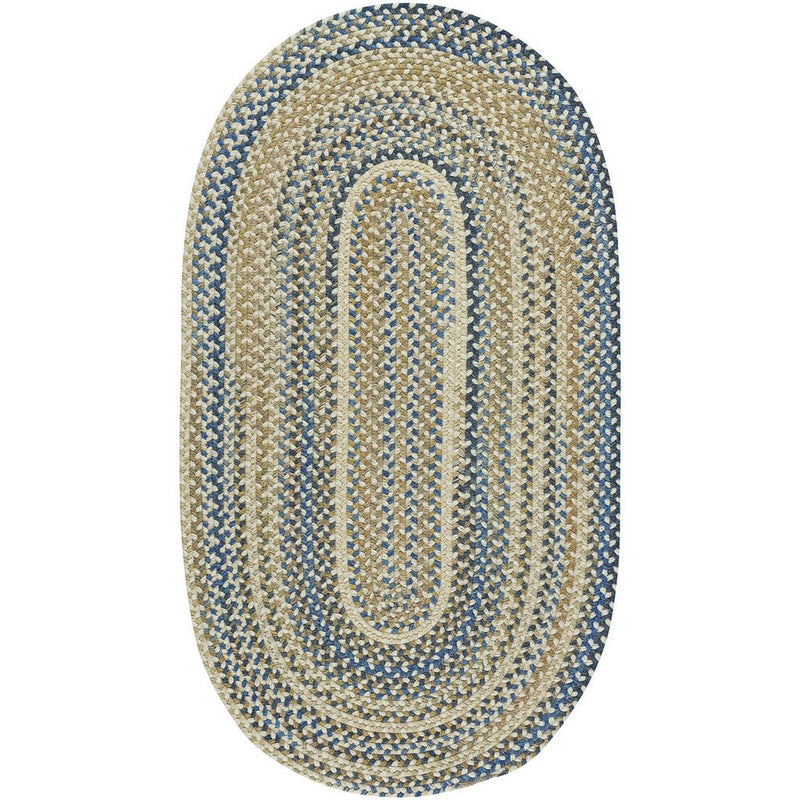 Bonneville Sandy Beach Braided Rug Oval image