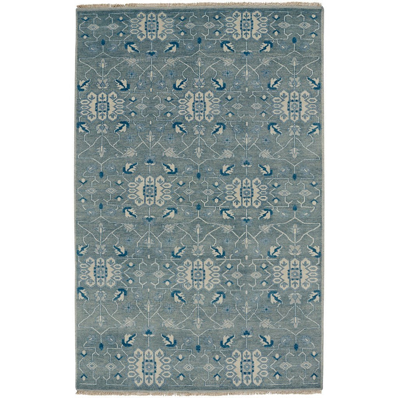 Solace Fog Hand Knotted Rug Rectangle image