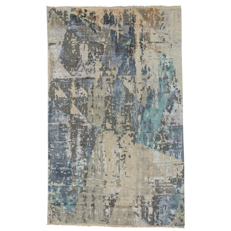 Tasanee Morning Dove Hand Knotted Rug Rectangle image