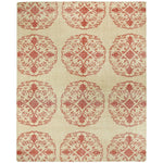 Vintage-Mandala Red Hand Knotted Rug Rectangle image