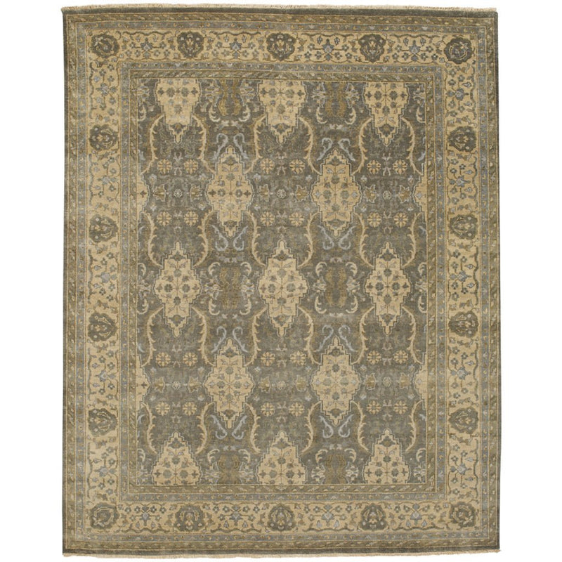 Yazzie Lt. Grey Ivory Hand Knotted Rug Rectangle image