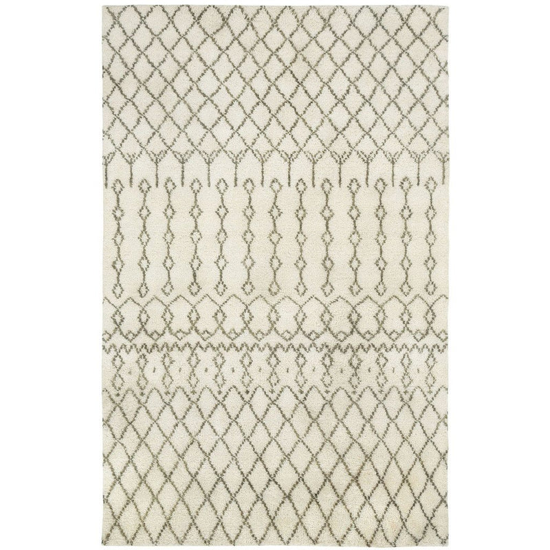 Kasbah-Trellis Ivory Hand Knotted Rug Rectangle image