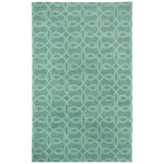 Lyrical Silver Green Hand Knotted Rug Rectangle image