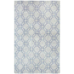 Ring Grey Hand Knotted Rug Rectangle image
