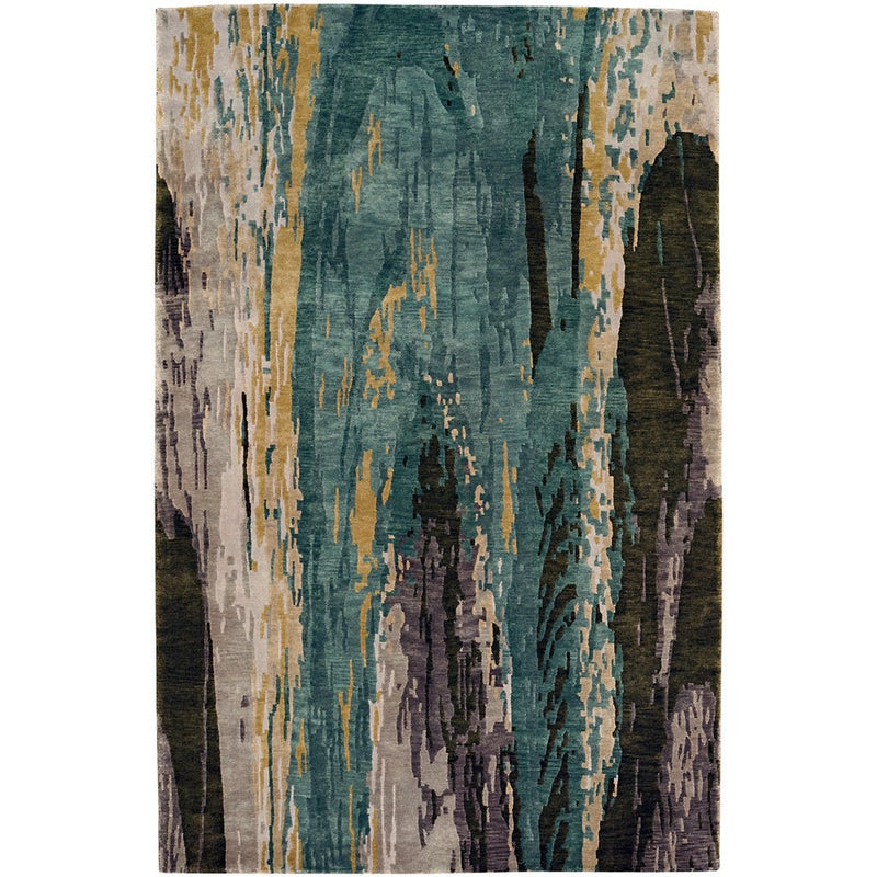 Phantom-Illusion Multi Hand Knotted Rug Rectangle image