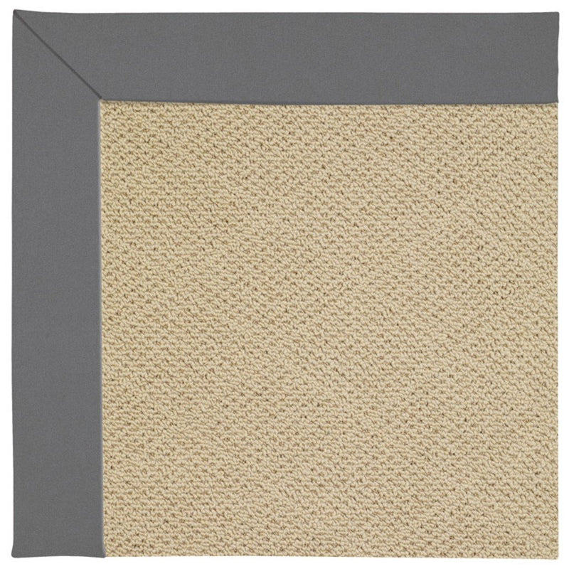 Creative Concepts-Cane Wicker Canvas Charcoal Machine Tufted Rug Rectangle image