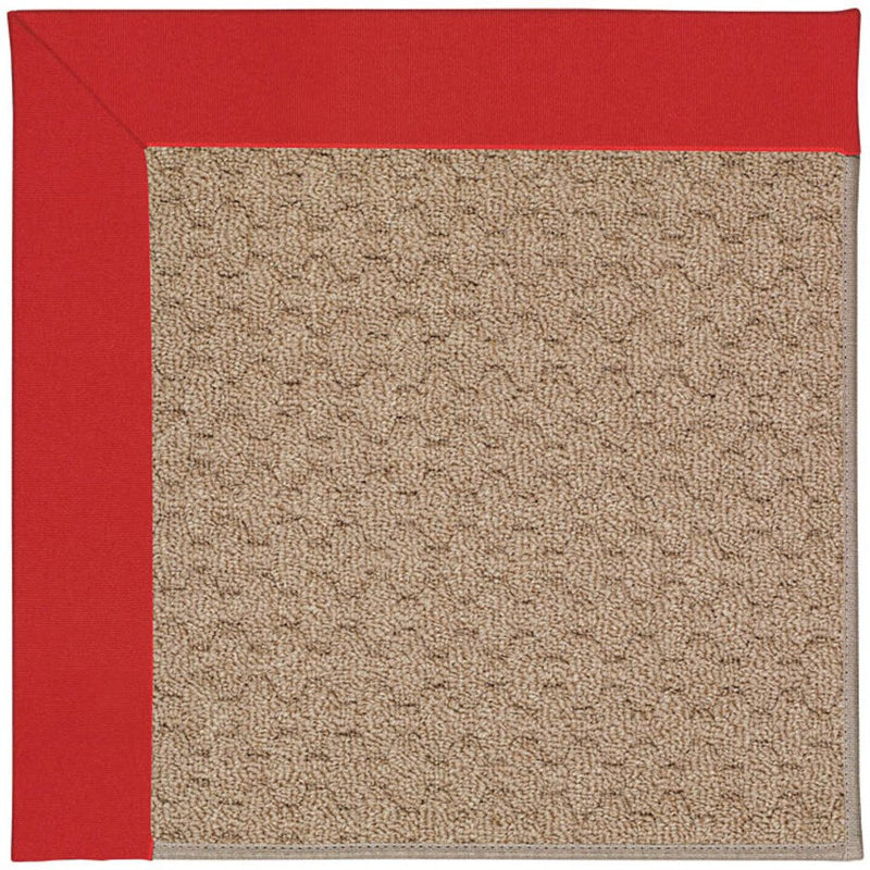 Creative Concepts-Grassy Mtn. Canvas Jockey Red Machine Tufted Rug Rectangle image
