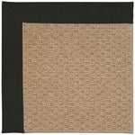Creative Concepts-Raffia Canvas Black Machine Tufted Rug Rectangle image