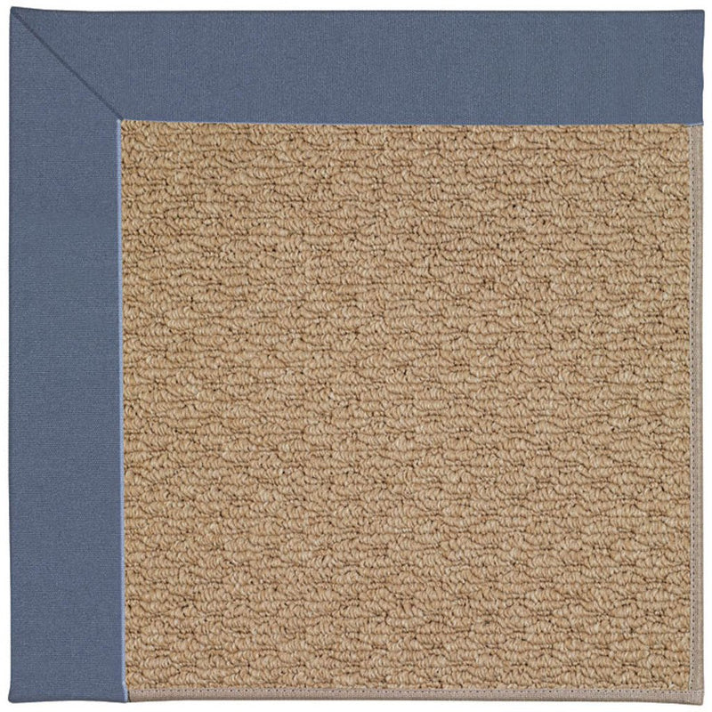 Creative Concepts-Raffia Canvas Sapphire Blue Machine Tufted Rug Rectangle image