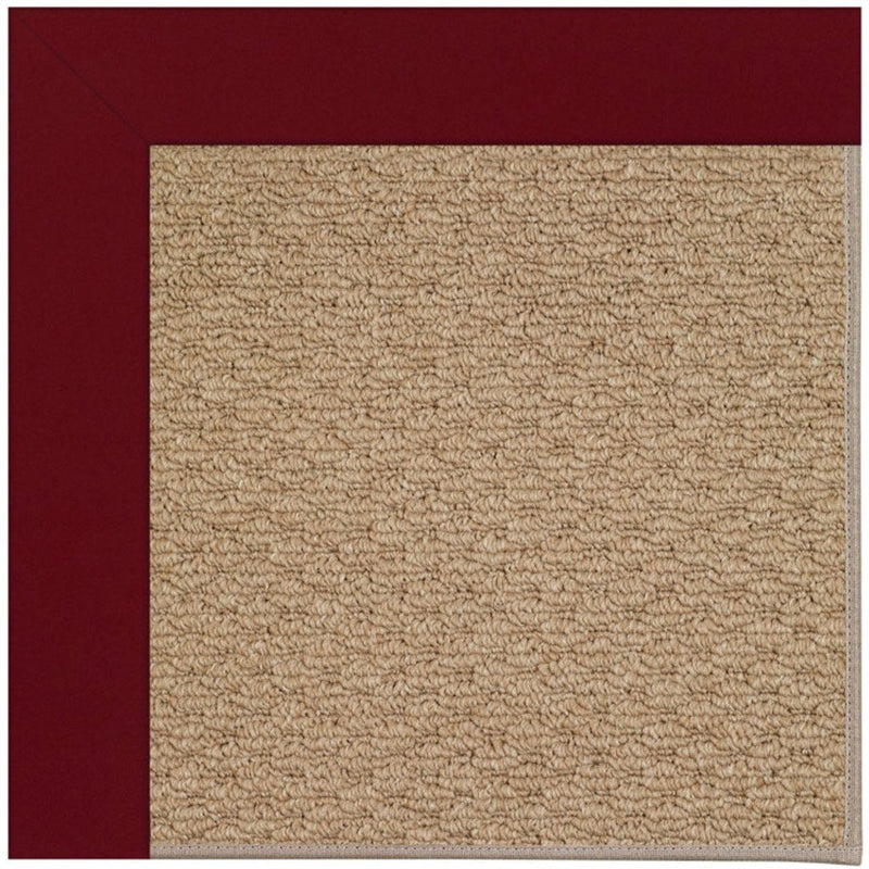 Creative Concepts-Raffia Canvas Burgundy Machine Tufted Rug Rectangle image