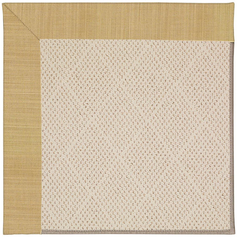 Creative Concepts-White Wicker Dupione Bamboo Machine Tufted Rug Rectangle image
