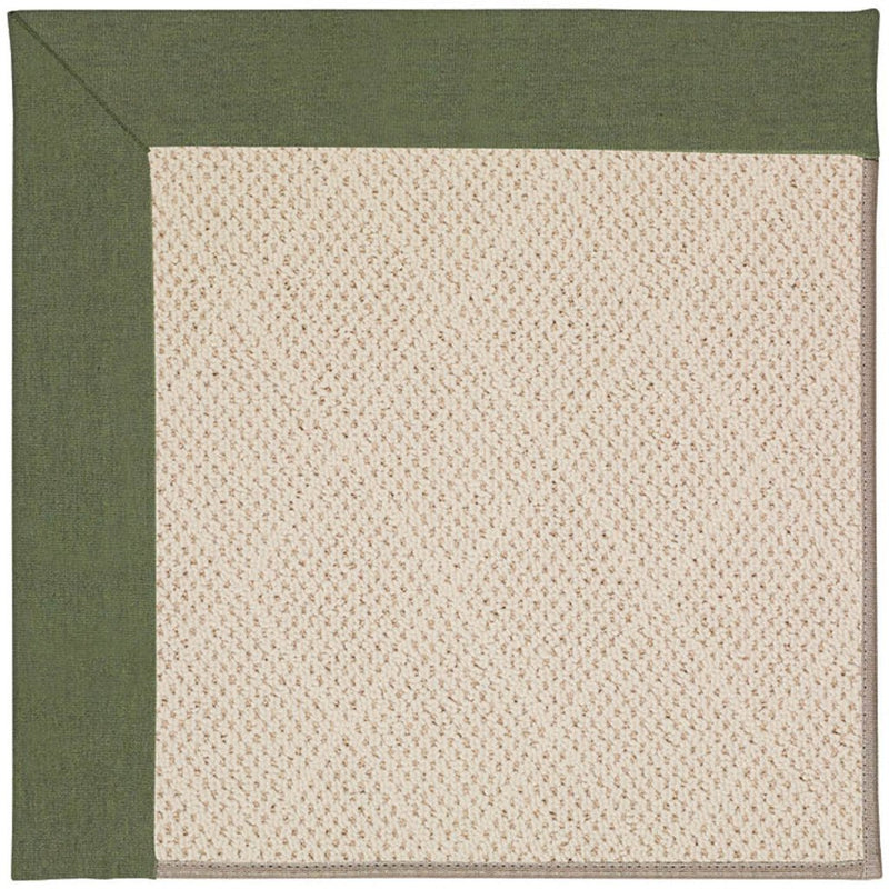 Creative Concepts-White Wicker Canvas Fern Machine Tufted Rug Rectangle image