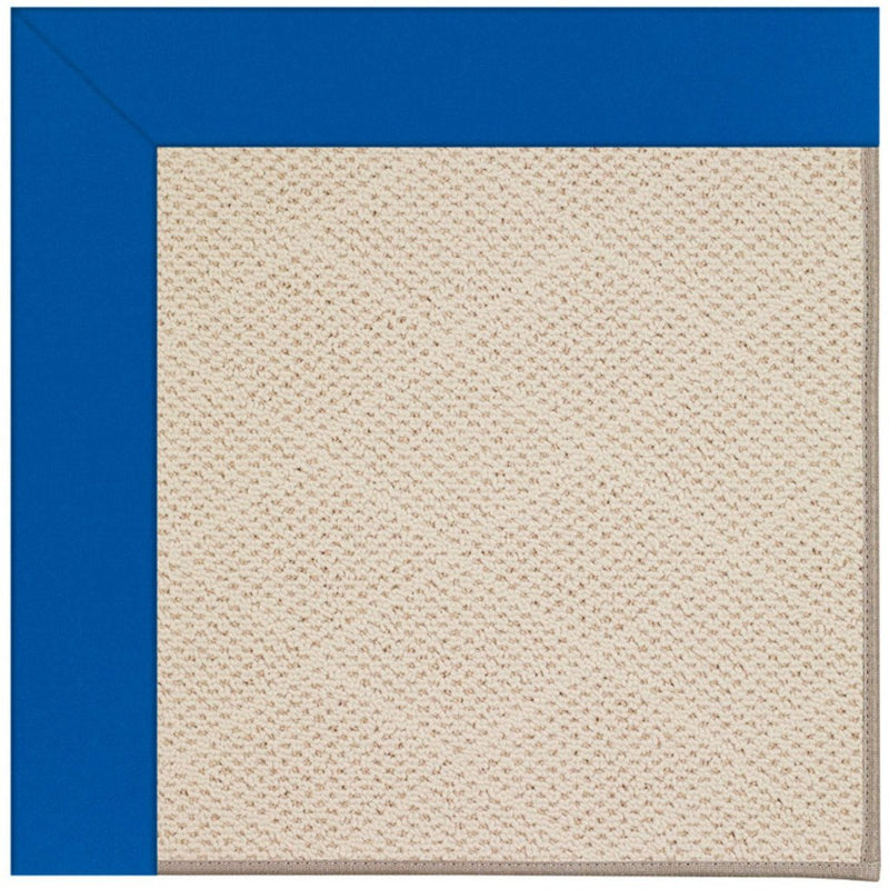 Creative Concepts-White Wicker Canvas Pacific Blue Machine Tufted Rug Rectangle image