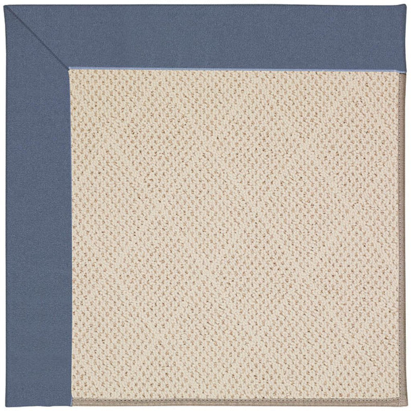 Creative Concepts-White Wicker Canvas Sapphire Blue Machine Tufted Rug Rectangle image