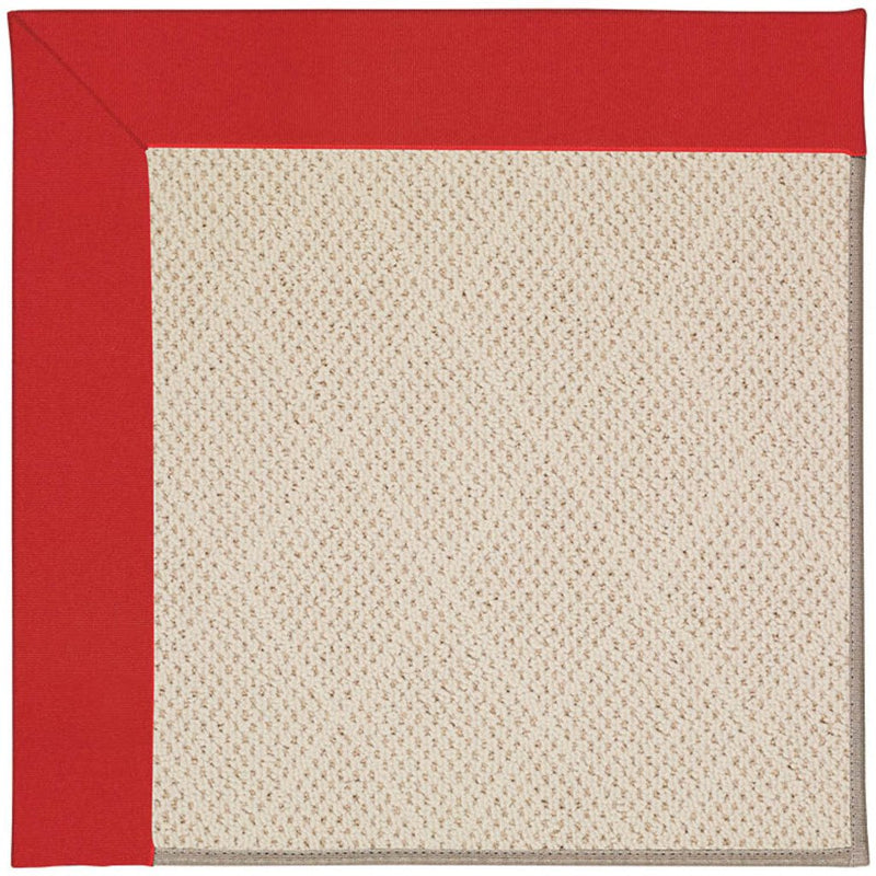Creative Concepts-White Wicker Canvas Jockey Red Machine Tufted Rug Rectangle image