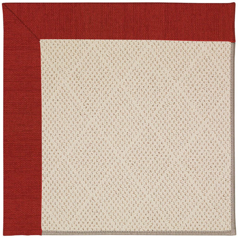 Creative Concepts-White Wicker Canvas Cherry Machine Tufted Rug Rectangle image