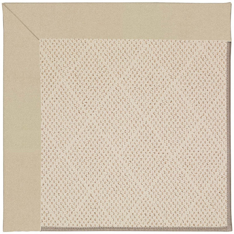 Creative Concepts-White Wicker Canvas Antique Beige Machine Tufted Rug Rectangle image