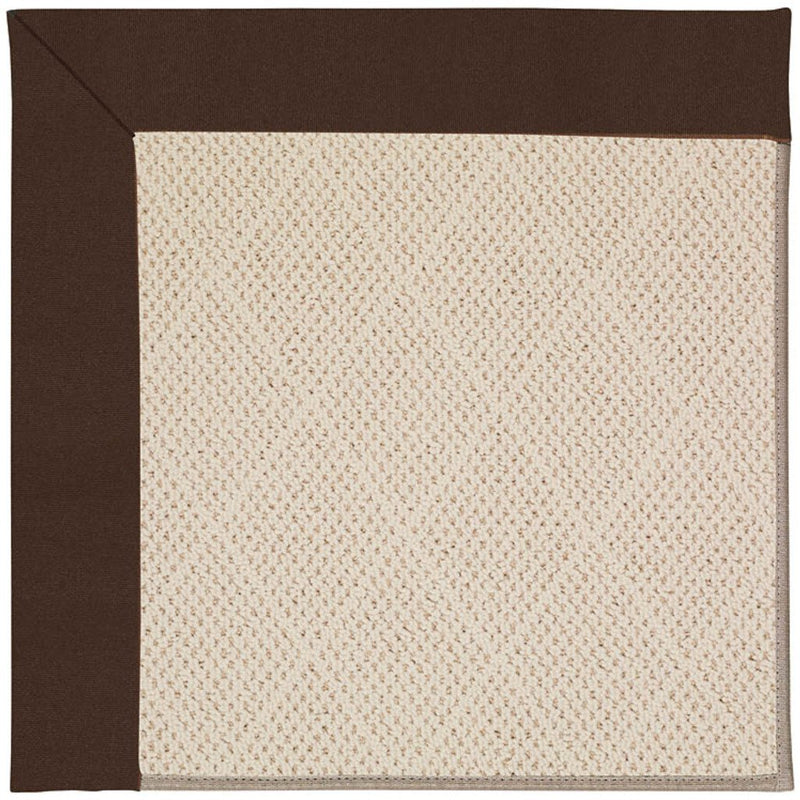 Creative Concepts-White Wicker Canvas Bay Brown Machine Tufted Rug Rectangle image