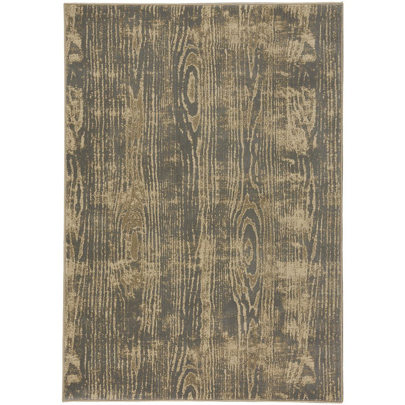 Woodgrain Lt. Grey Machine Woven Rug Rectangle image