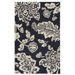 Everard Damask Noir Hand Tufted Rug Rectangle image