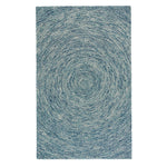 Orbit Blue Hand Tufted Rug Rectangle image