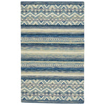 Avanti-Kelim Alpine Blue Hand Tufted Rug Rectangle image