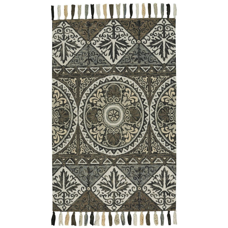 Gypsy-Shaman Graphite Hand Tufted Rug Rectangle image