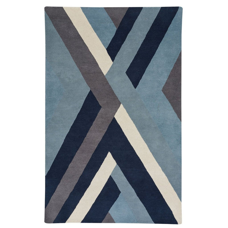 Intersection Slate Hand Tufted Rug Rectangle image