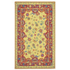 Provencal Gold Red Loop Hooked Rug Rectangle image