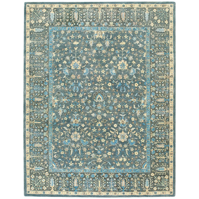 Izmir-Persian Cedars Dusty Blue Hand Tufted Rug Rectangle image