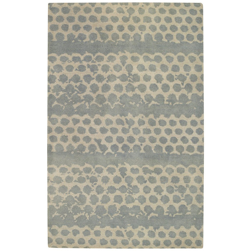 Honeycombs Pool Hand Tufted Rug Rectangle image