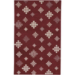Glace Garnet Cream Hand Tufted Rug Rectangle image