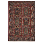 Lineage-Qashqai Red Navy Machine Woven Rug Rectangle image