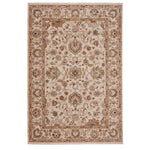Jules-Ushak Ivory Stone Machine Woven Rug Rectangle image