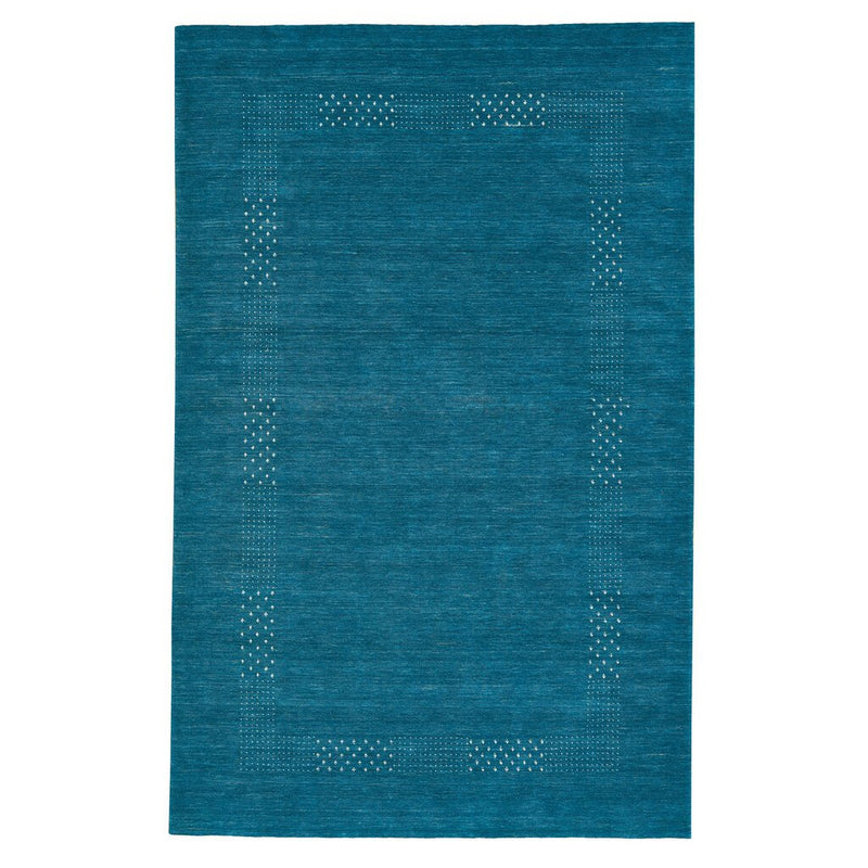 Simply Gabbeh Turquoise Hand Loomed Area Rug Rectangle image