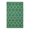 Arabesque Emerald Flat Woven Rug Rectangle image