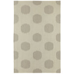 NY Dot Oslo Gray Flat Woven Rug Rectangle image