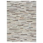 Laramie-Braided Stripe Grey Multi Flat Woven Rug Rectangle image