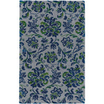 Monte Carlo Silver Nautical Blue Hand Tufted Rug Rectangle image