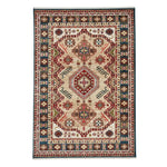 Landis-Kazak Champagne Blue Machine Tufted Rug Rectangle image
