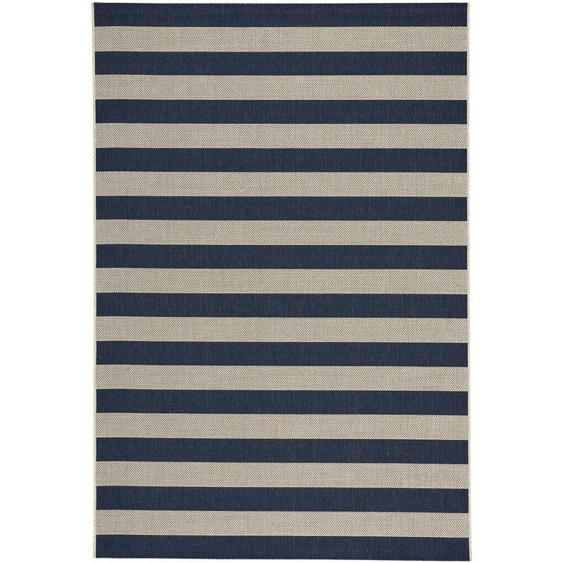 Finesse-Stripe Navy Machine Woven Rug Rectangle image