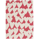 Sweet Treats-Hearts Pink Cream Machine Tufted Rug Rectangle image