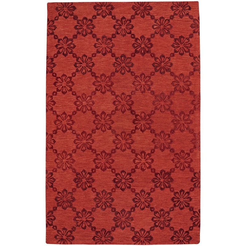 Daisy Chain Red Hand Tufted Rug Rectangle image