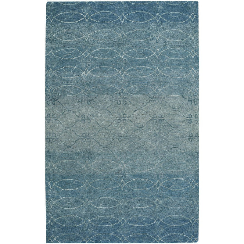 Ramblas Mediterranean Blue Hand Tufted Rug Rectangle image