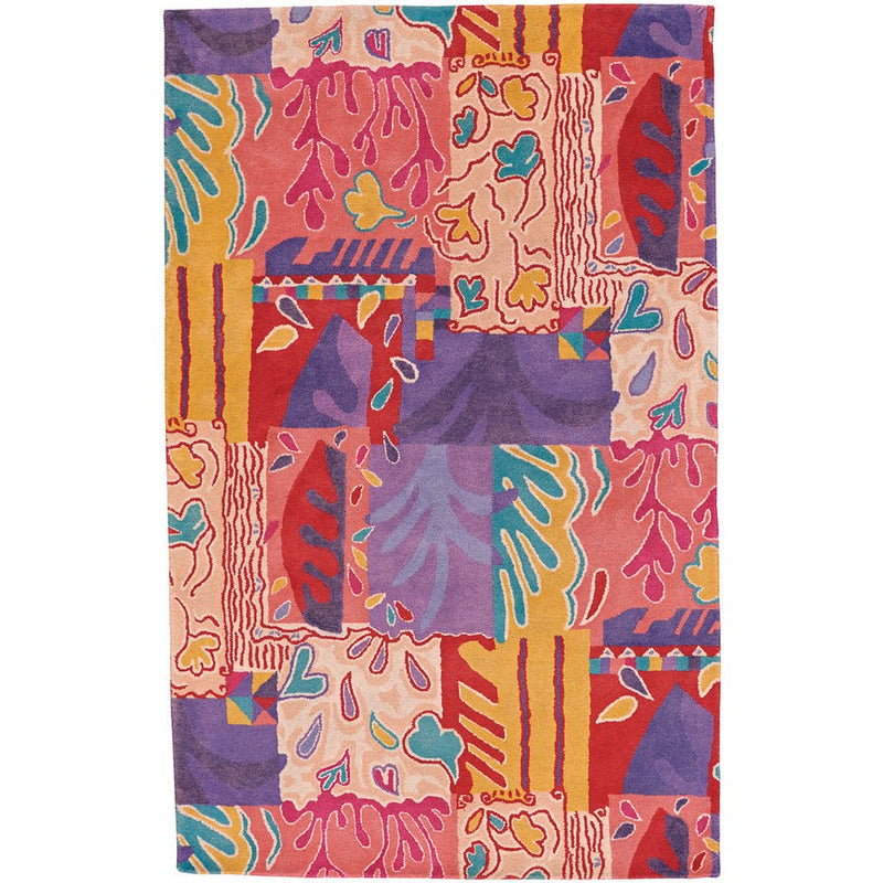 Bloomsbury Pink Multi Hand Tufted Rug Rectangle image