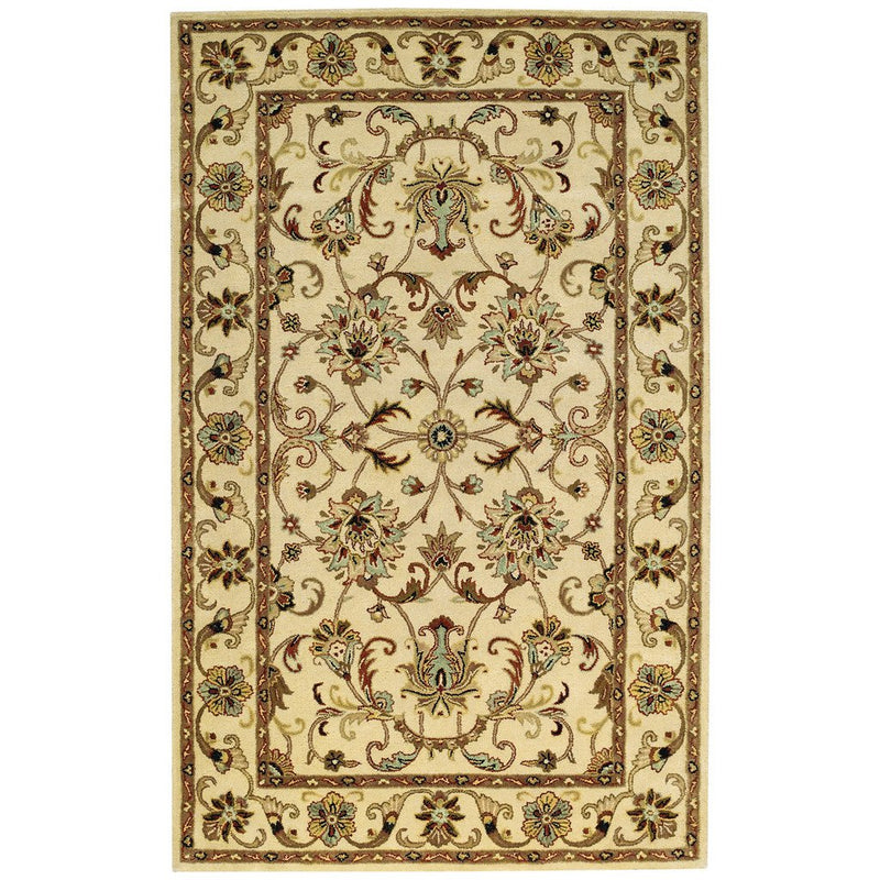 Eloquent Garden Antique Ivory Hand Tufted Rug Rectangle image